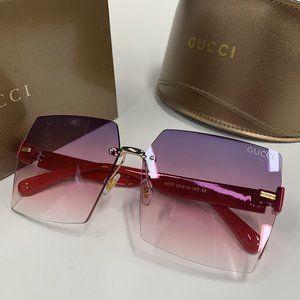Many Logo Sunglasses Red